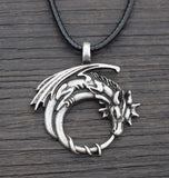 Winged Dragon On Moon Pendant Necklace dragon necklace, dragon pendant