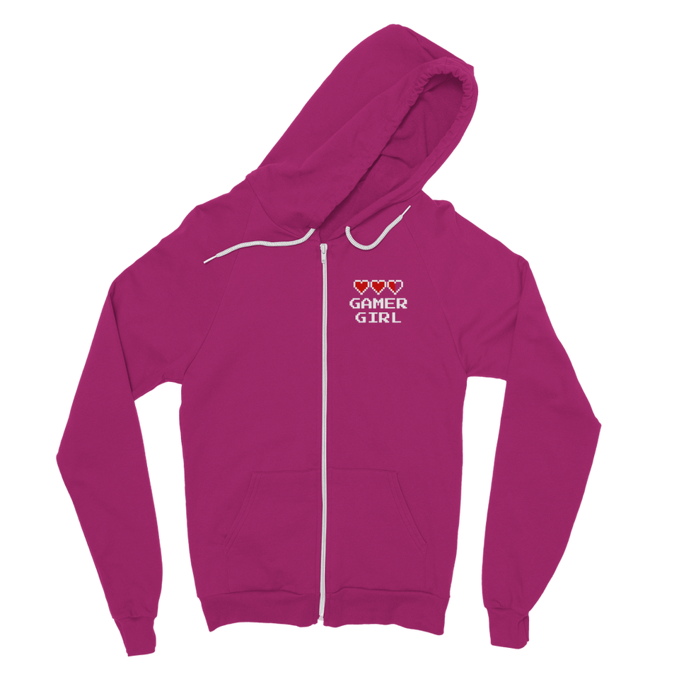 Gamer Girl Video Game Classic Adult Zip Hoodie