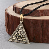 Illuminati Triangle Pendant Necklace illuminati necklace, illuminati chain, illuminati pendant