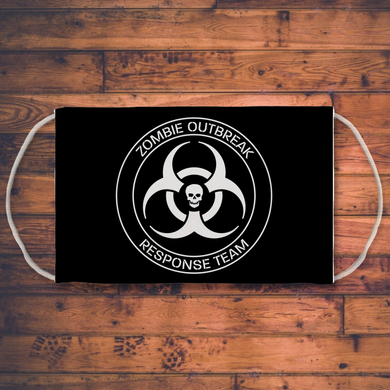 Zombie Outbreak Response Team Sublimation Face Mask