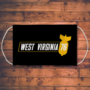 West Virginia 76 Sublimation Face Mask