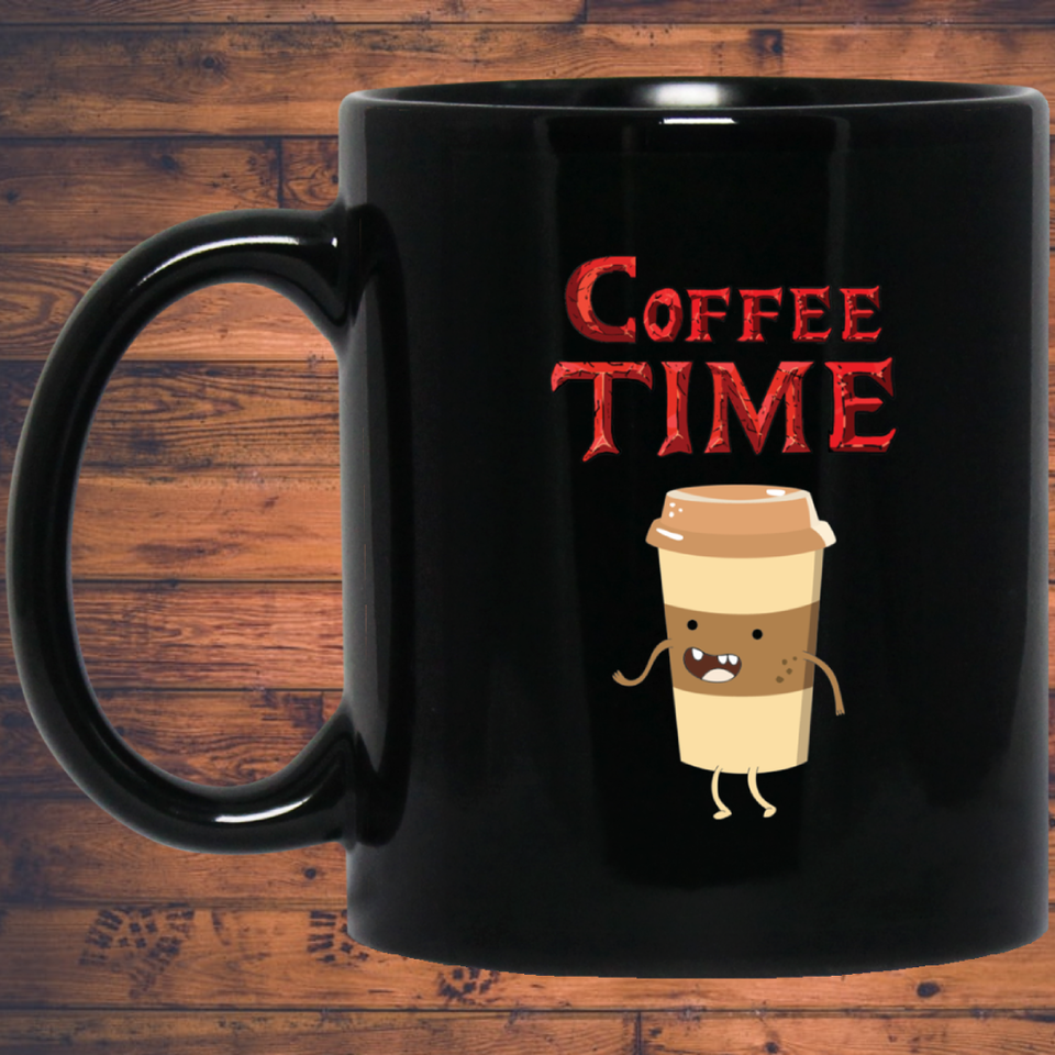 Coffee Time - Coffee Lovers 11 oz. Black Mug