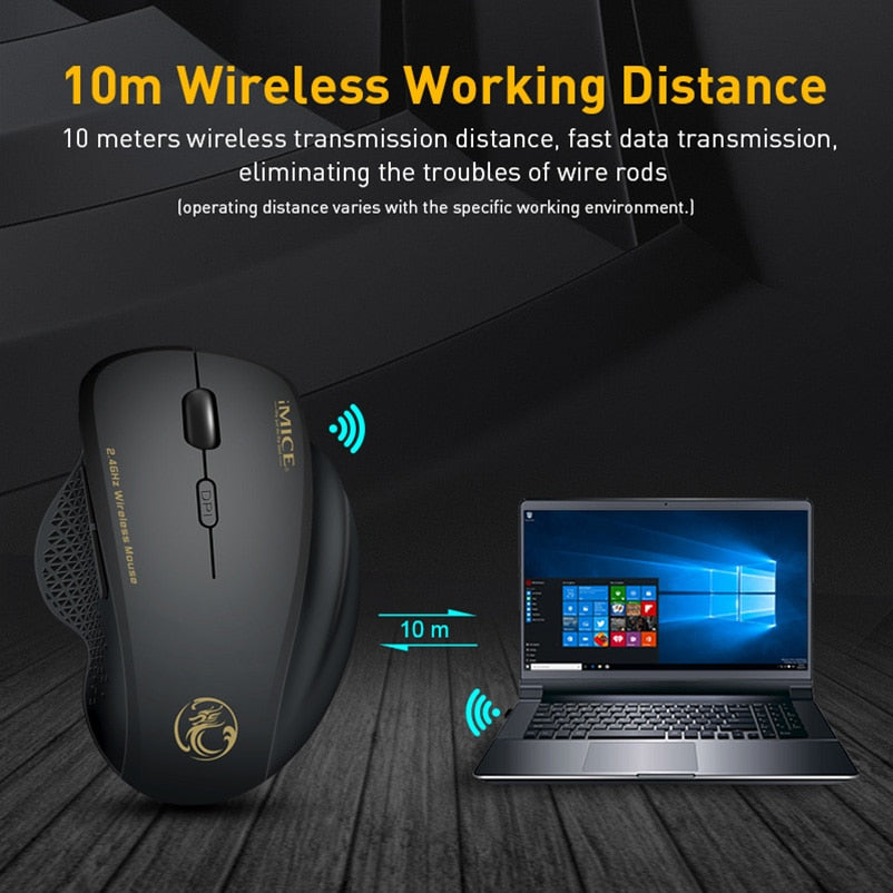 Wireless Computer Ergonomic Gaming Mouse
