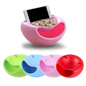 Modern Creative Shape Lazy Snack Bowl & Phone Holder phone holder iphone holder, smartphone holder, phone stand