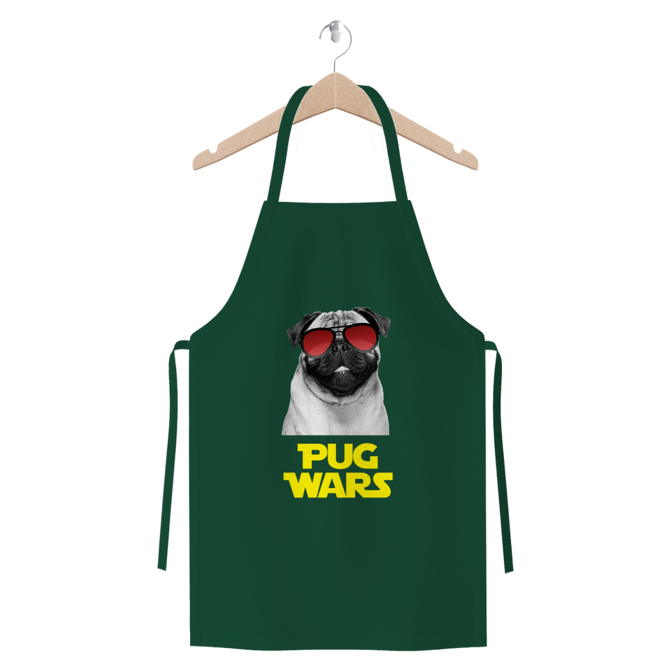 Pug Wars Return Of The Pug Premium Jersey Apron