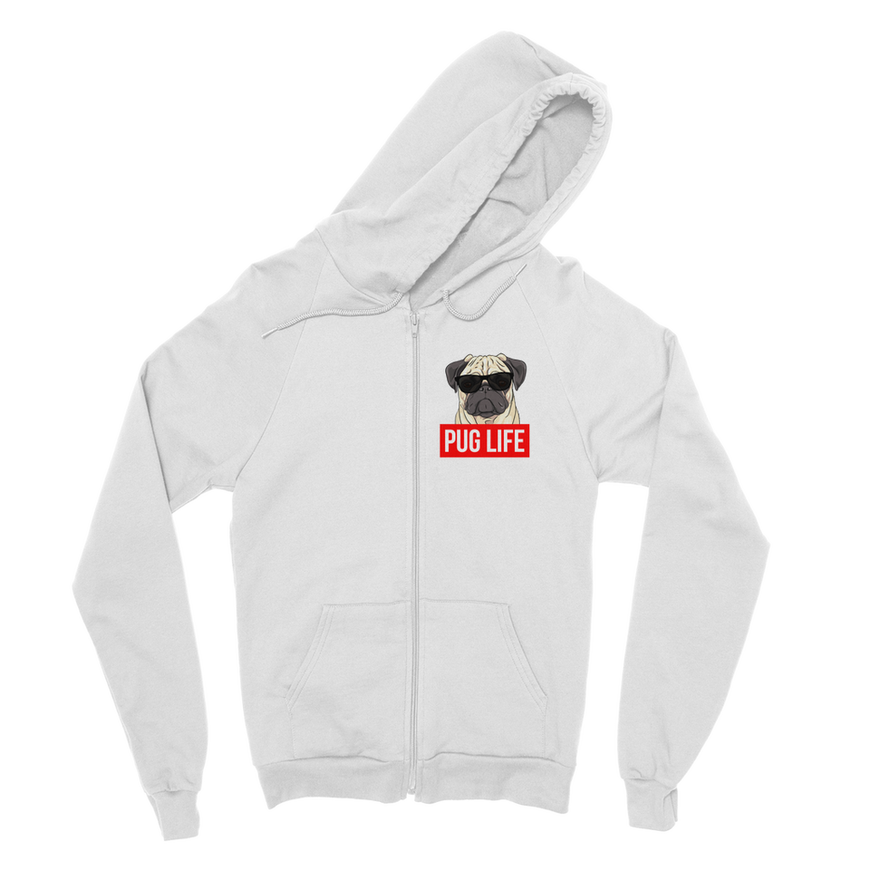 Pug Life - Pug Lover Classic Adult Zip Hoodie