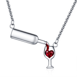 Love Wine - Wine Lover Necklace Love Wine - Wine Lover Necklace