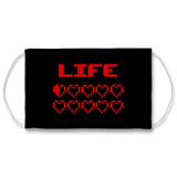 Gaming Life Bar / Game Hearts Sublimation Face Mask Gaming Life Bar / Game Hearts Sublimation Face Mask