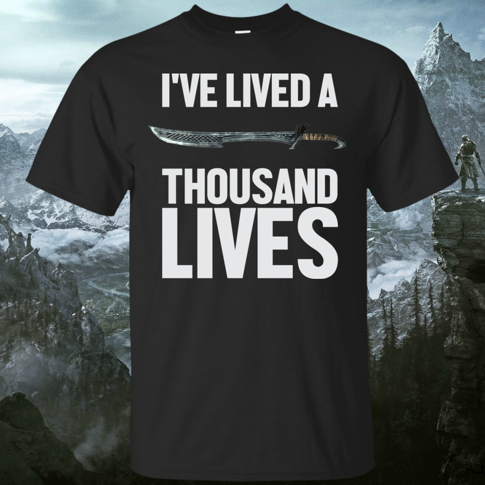 Ive Lived A Thousand Lives Fantasy RPG Video Gaming Pullover Hoodie 8 oz.
