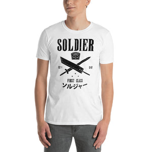 Soldier First Class Unisex Light T-Shirt Final Fantasy 7, Cloud Strife, FF7, final fantasy shirt, final fantasy t shirt, final fantasy tshirt
