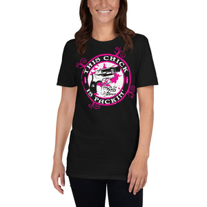 This Chick Is Packin' 2nd Amendment T-Shirt 2nd amendment shirts, 2nd amendment t shirt, second amendment shirts, second amendment t shirts, pro 2nd amendment shirts, gun rights shirt, women's 2nd amendment shirts, gun rights t shirts, 2nd amendment tee shirts, 2nd amendment shirt bear arms, second amendment tee shirts