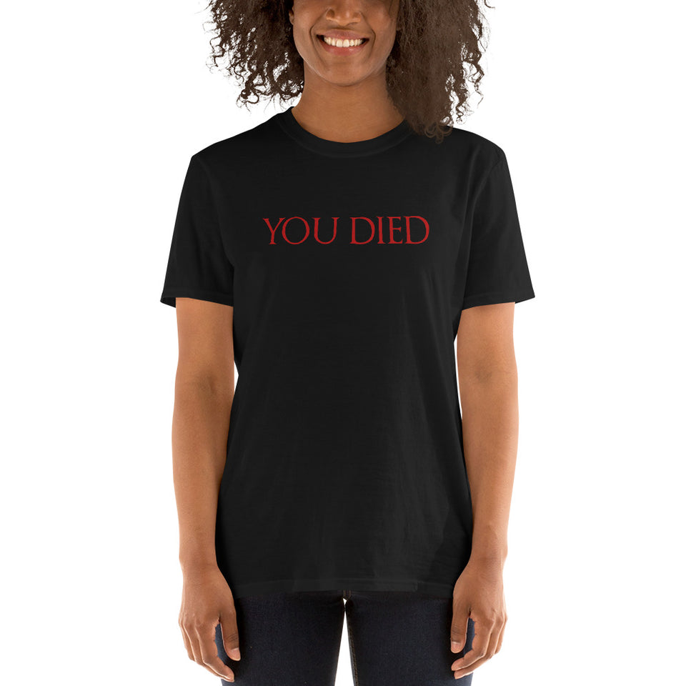 You Died Video Game Unisex T-Shirt