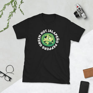 Green Hot Jalapeno Peppers Unisex T-Shirt peppers shirt, peppers t shirt, peppers tshirt, dog shirt, dog t shirt, dog tshirt, pepper shirt, pepper t shirt, pepper tshirt
