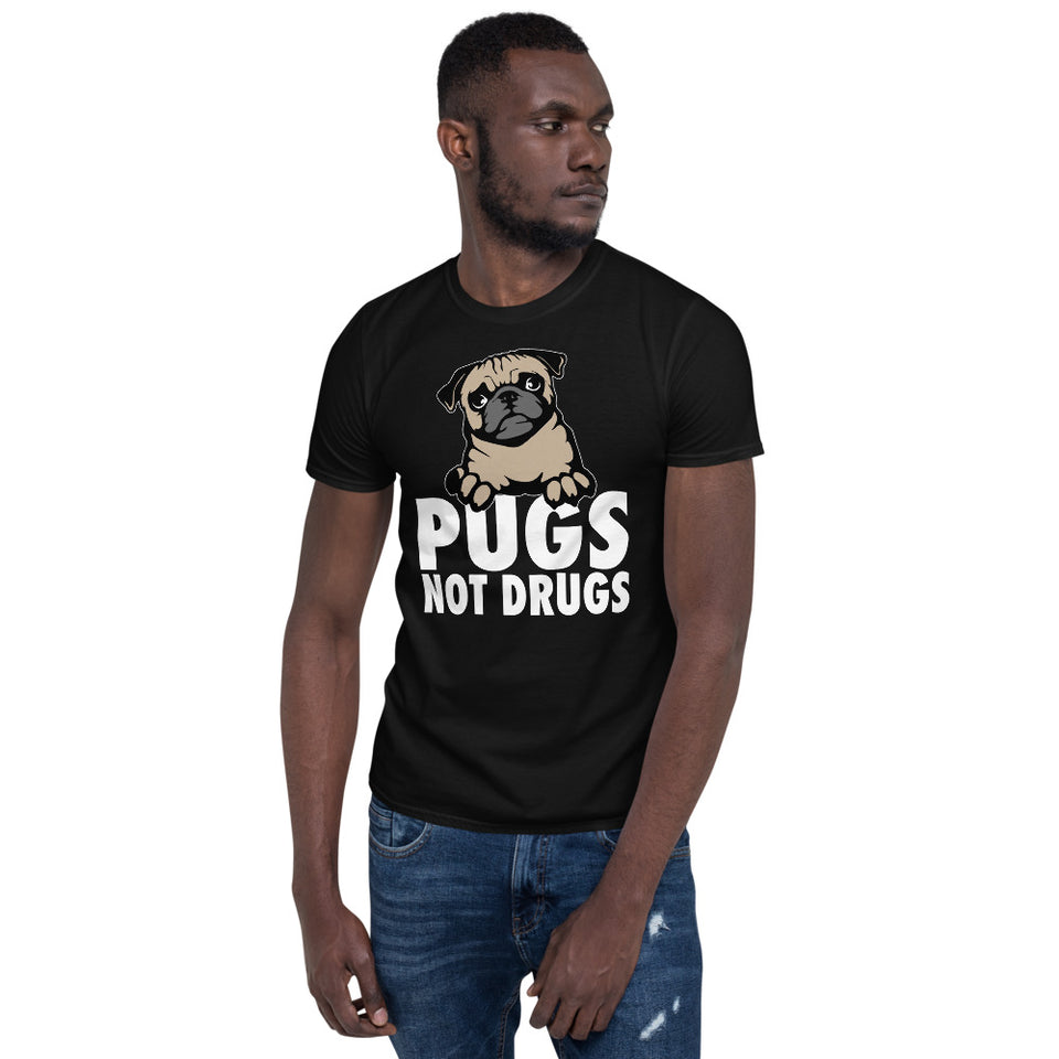 Pugs Not Drugs - Pug Unisex T-Shirt