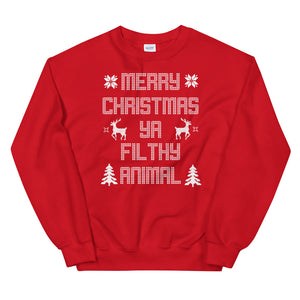Merry Christmas Ya Filthy Animal Unisex Ugly Xmas Sweater Sweatshirt Merry Christmas Ya Filthy Animal Unisex Ugly Xmas Sweater Sweatshirt