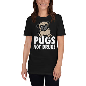 Pugs Not Drugs - Pug Unisex T-Shirt Pugs Not Drugs - Pug Unisex T-Shirt