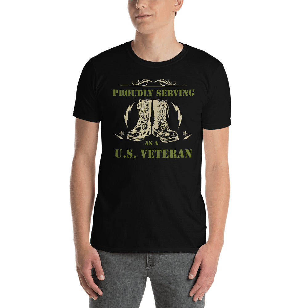 Proudly Serving As A US Veteran Unisex T-Shirt