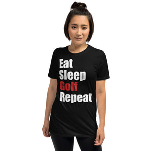 Eat Sleep Golf Repeat Unisex T-Shirt golf fan golf player golf shirt