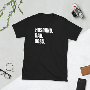 Mens Husband Dad Boss T-Shirt husband shirt, husband t shirt, husband tshirt, dad shirt, dad t shirt, dad tshirt, father shirt, father t shirt, father tshirt