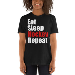 Eat Sleep Hockey Repeat Unisex T-Shirt ice hockey hockey player, hockey shirt, hockey t shirt