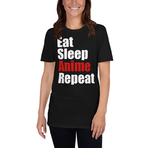 Eat Sleep Anime Repeat Unisex T-Shirt anime weeb senpai waifu anime shirt