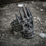 Mens King Crown Skull 316L Stainless Steel Ring skull rings for men skull ring skull rings for women