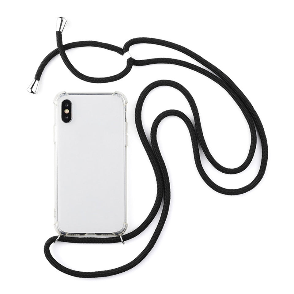 iPhone Crossbody Strap Necklace Phone Case With Lanyard