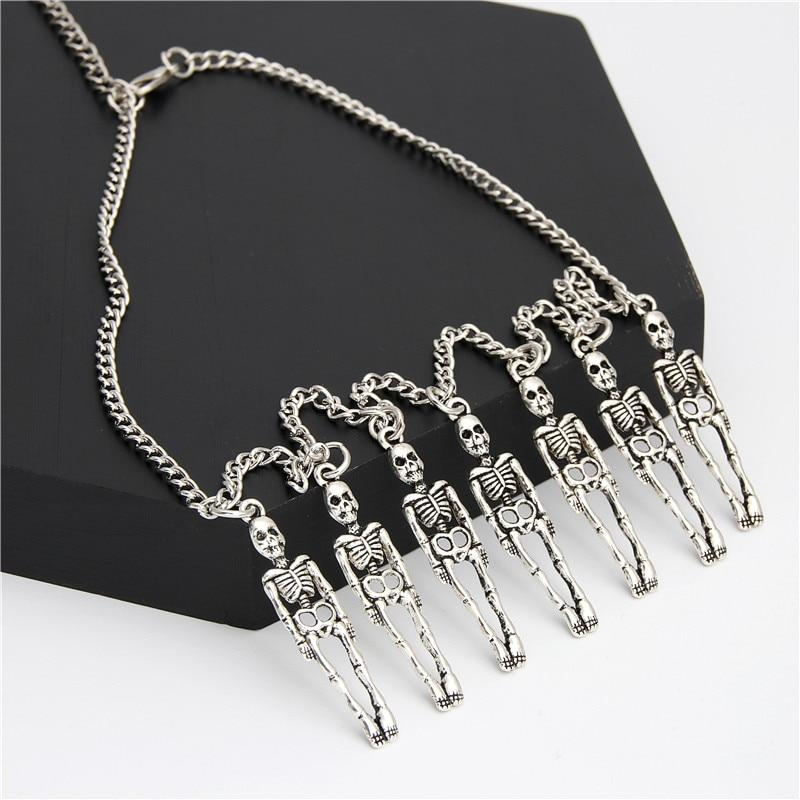 skeleton necklace mens skull necklace