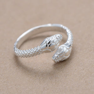 Adjustable Silver Plated Snake Ring Adjustable Silver Plated Snake Ring