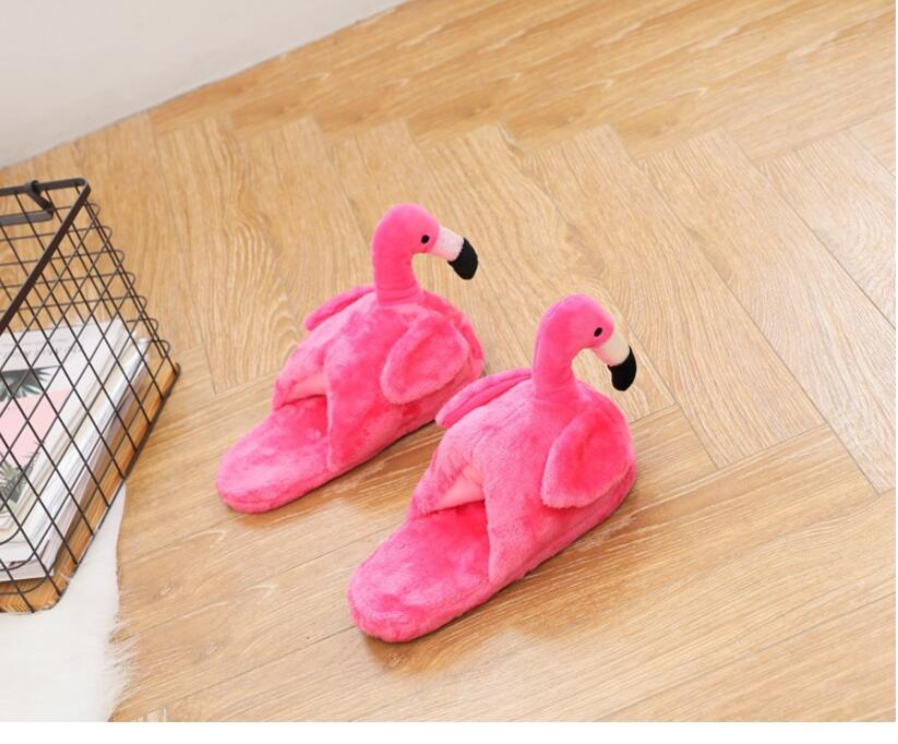 Fluffy Flamingo Slippers