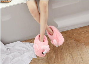 Fluffy Flamingo Slippers Fluffy Flamingo Slippers