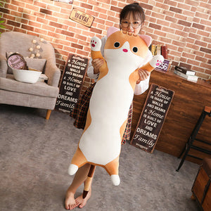 Kawaii Cute Cat Long Plush Pillow cat plush cat stuffed animals stuffed cat stuffed cat toy