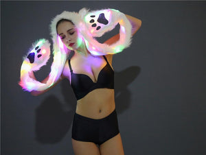 LED Faux Fur Hat led hat