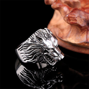 Stainless Steel Wolf Head Ring Stainless Steel Wolf Head Ring