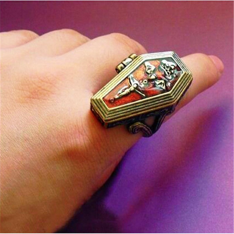 coffin shaped ring