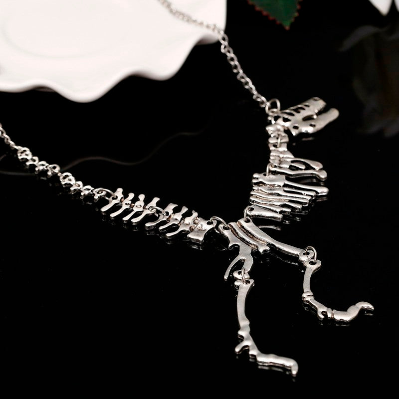 dinosaur necklace t rex necklace dinosaur skeleton necklace
