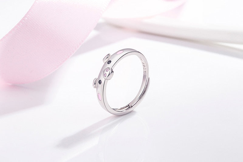 silver pig ring