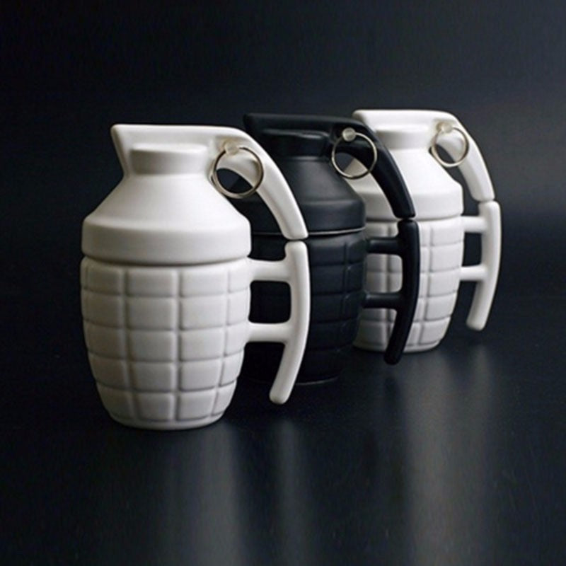 Grenade Coffee Mug With Lid