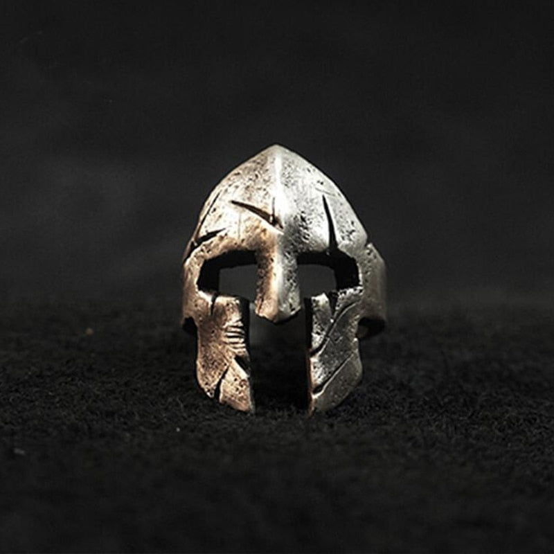 Spartan Battle Worn Helmet Ring
