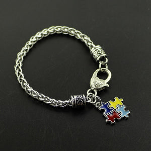 Autism Awareness Puzzle Charm Bracelet Autism Awareness Puzzle Charm Bracelet