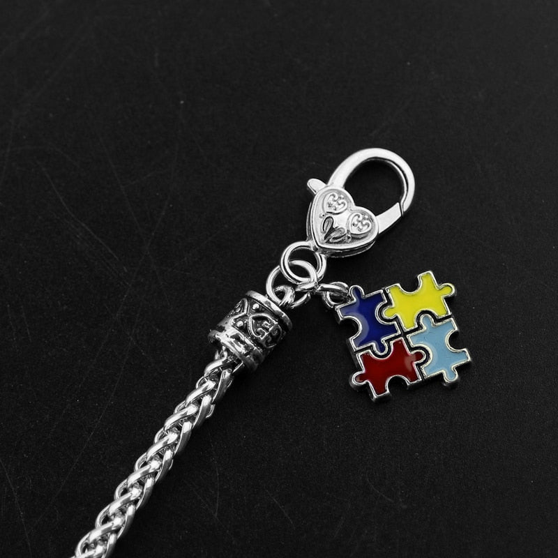 Autism Awareness Puzzle Charm Bracelet