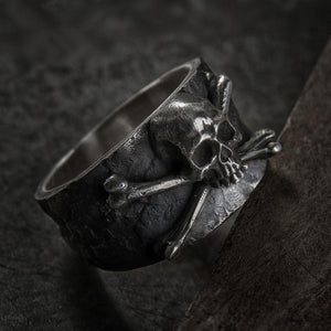 Mens Vintage Skull And Crossbones Stainless Steel Pirate Ring skull rings for men skull ring skull rings for women