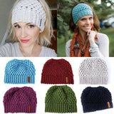 Ponytail Beanie Knitted Winter Hat ponytail beanie cc ponytail beanie beanie with ponytail hole ponytail beanie hat beanie with hole for hair beanie hat with ponytail hole