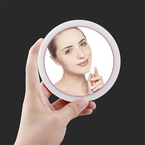 Portable LED Mini Compact Mirror led compact mirror compact mirror with light light up compact mirror compact makeup mirror with lights compact magnifying mirror with light pocket mirror with lights
