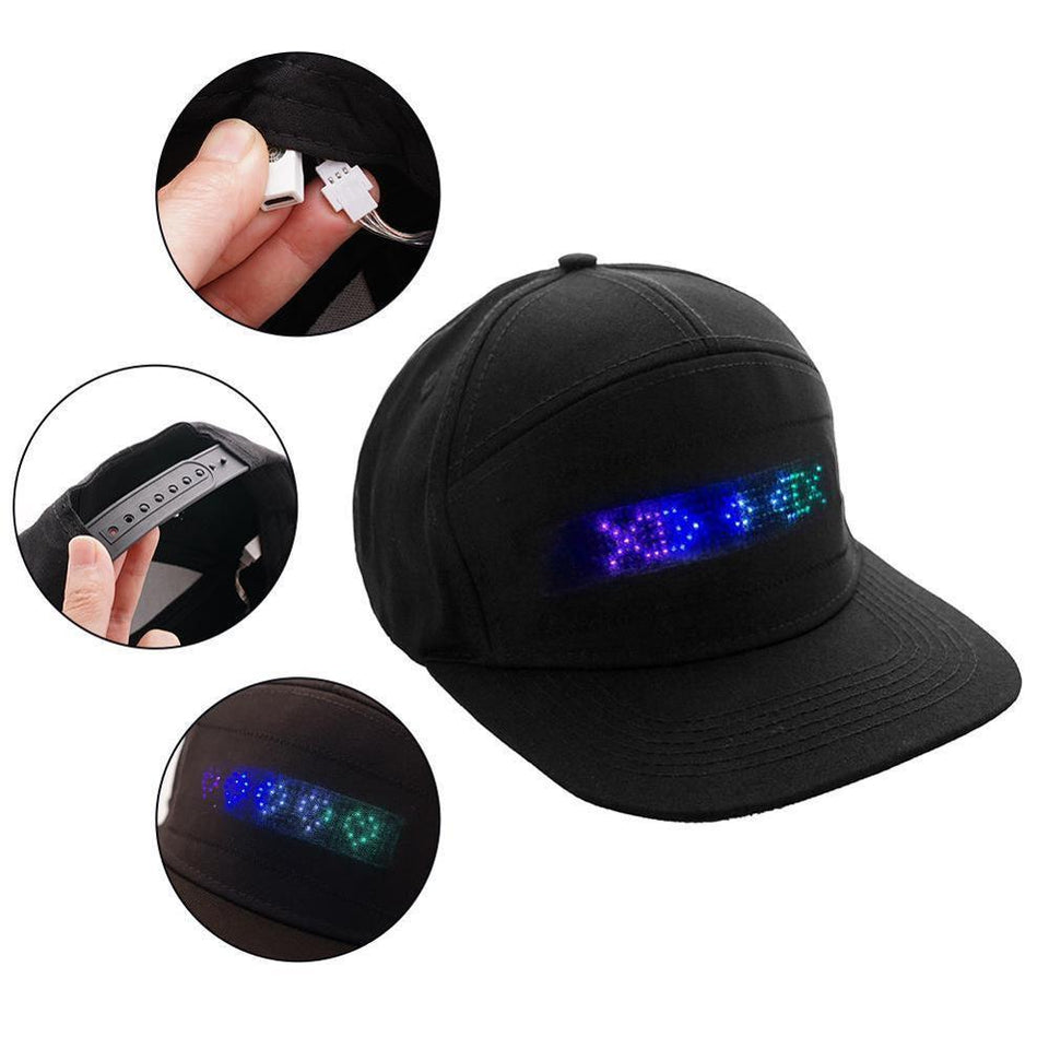 scrolling message hat scrolling message led hat