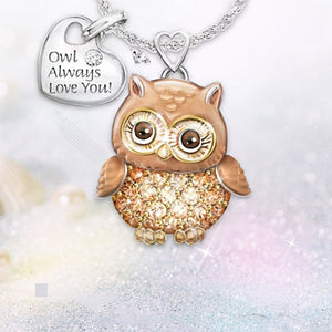 Owl Always Love You Cute Owl Necklace owl pendant owl necklace