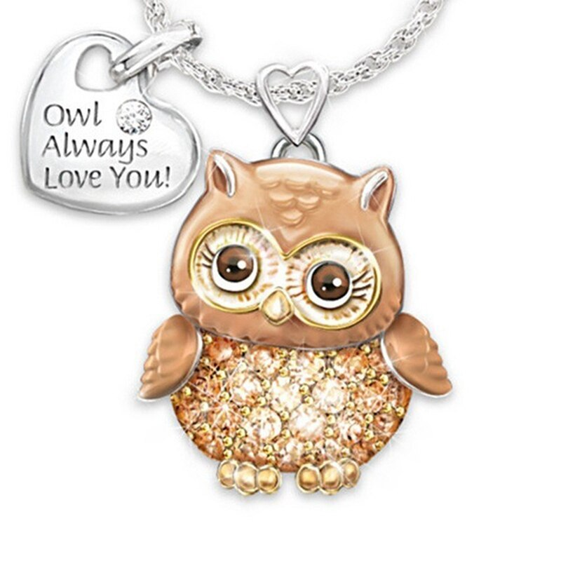 owl pendant owl necklace