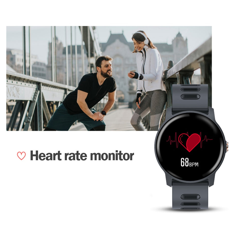 Smart Watch Fitness Tracker Heart Rate Monitor Pedometer For Android & iPhones