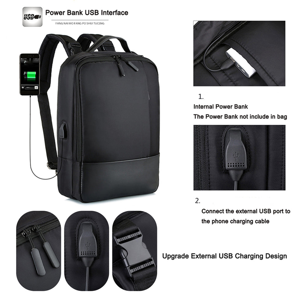 Multifunction USB Anti-Theft Backpack