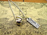 Strong Is Beautiful Gym Fitness Workout Necklace kettlebell necklace